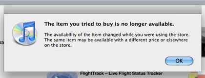 More idiotic iTunes Alerts!