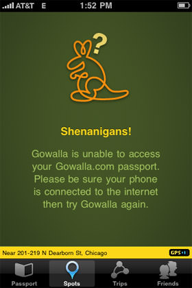 No Link to Gowalla?
