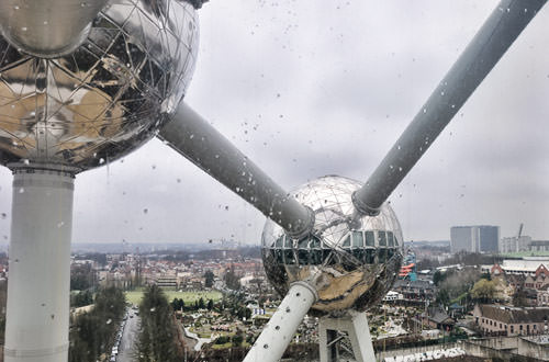 Looking Out of Atomium!
