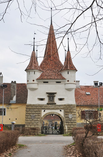 Brasov City Entrance in Transylvania, Romania