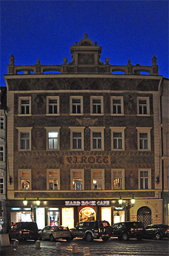 Hard Rock Cafe Prague at Night