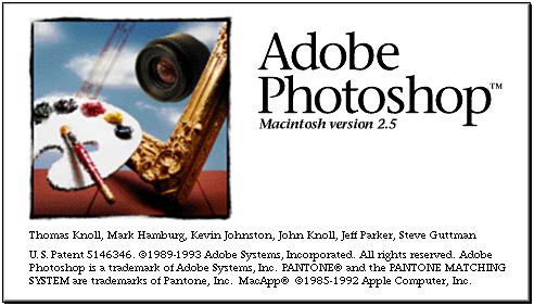 Adobe Photoshop 2.5 Splash Screen