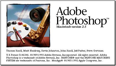 Adobe Photoshop 2.5 Splash Screen