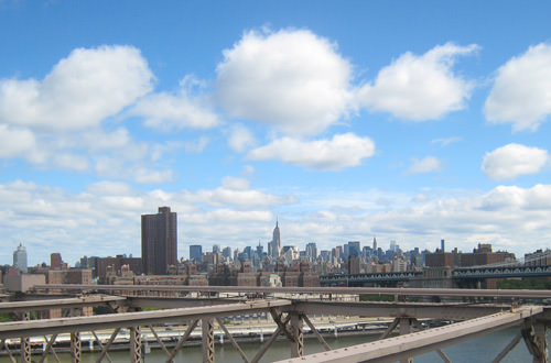 Manhattan Skyline from the Brooklyn Bridge