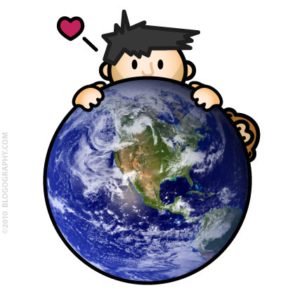 DAVETOON: Lil' Dave and Bad Monkey Loves the Earth!