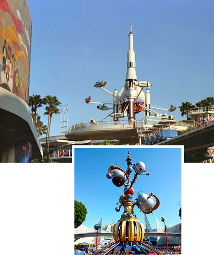 Disney Rocket Jet/Astro Orbiter Then and Now