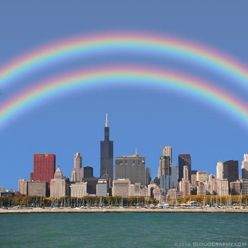 Double Rainbow Over Chicago!