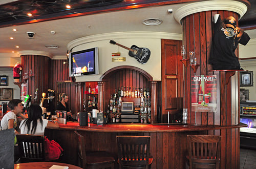 Inside the Hard Rock Cafe
