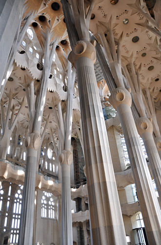 Sagrada Família Interior Columns