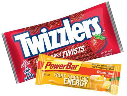 Twizzlers vs. PowerBar