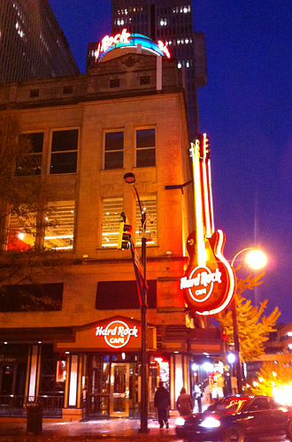 Hard Rock Atlanta at Night