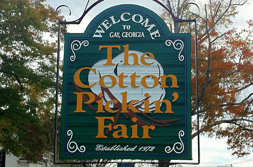 Cotton Pickin' Fair Sign