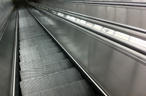 MARTA train stop escalator