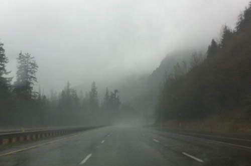Rainy Foggy Mountain Passes