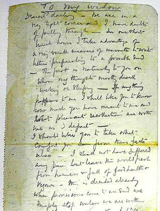 Robert Falcon Scott's Letter