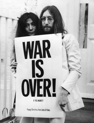 John Lenon and Yoko Ono say WAR IS OVER... if you want it