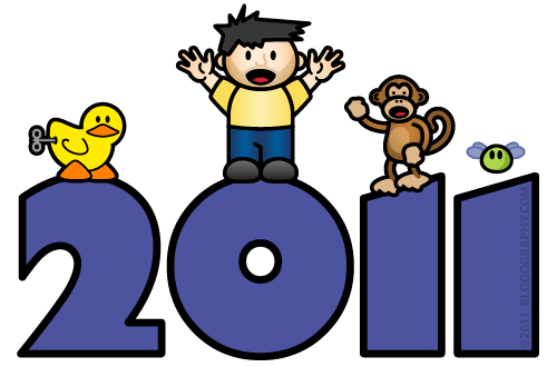 DAVETOON: Lil' Dave and Bad Monkey celebrate 2011