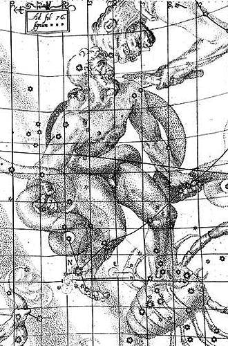 Ophiuchus Sketch by Kepler