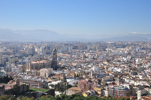 Looking down on Malaga from the Castle