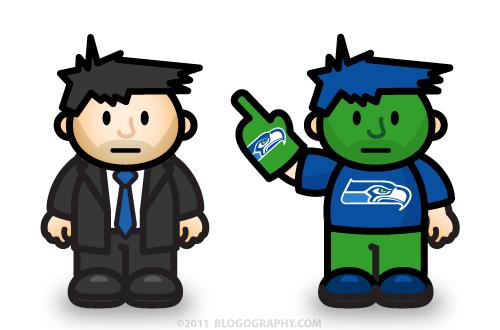 DAVETOON: Lil' Dave Uniform vs. Lil' Dave Seahawks