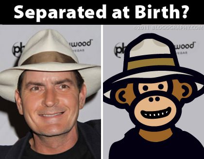 Charlie Sheen and Bad Monkey: Separated at Birth?