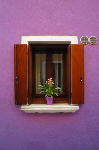 Burano Window on a Purple House