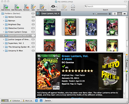 Comic Collector for Mac OS X