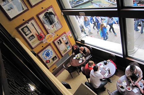 Inside the Hard Rock Cafe Venice