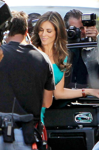 liz hurley wonder woman. Liz Hurley arrives in L.A. for