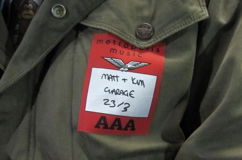 Matt & Kim Backstage Pass!