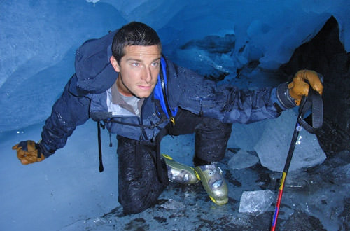 Bear Grylls in an Ice Cave!