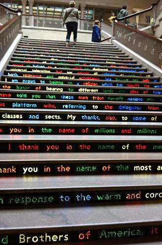 Chicago Art Institute Stairs Installation