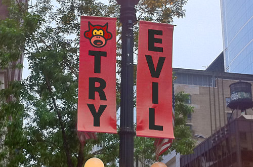BAD MONKEY SAYS TRY EVIL, Chicago!