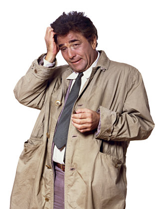 Peter Falk as Columbo!