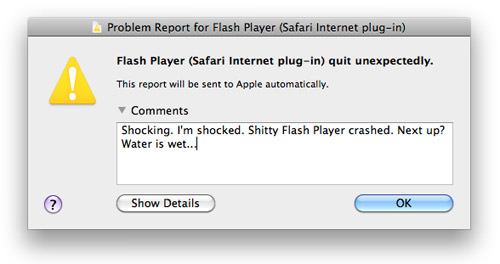 Flash Crash Report: Shocking. I'm shocked. Flash crashed. Next up? Water is wet...