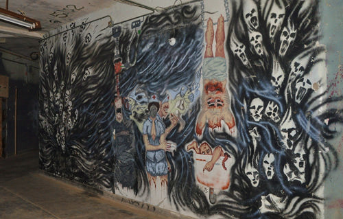 Waverly Hills Halloween Paintings