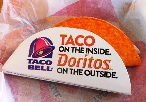Headline Taco Bell Taco with Doritos Shell 2011