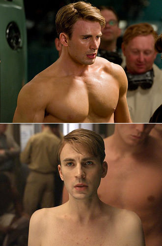 Real Chris Evans VS. Wimpy Chris Evans