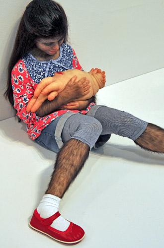 Realistic Ape Girl Statue
