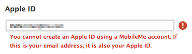 Apple ID cannot be changed?