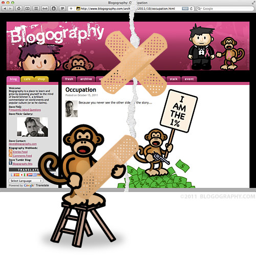 DAVETOON: Bad Monkey is Putting a Band-Aid on Broked Blogography