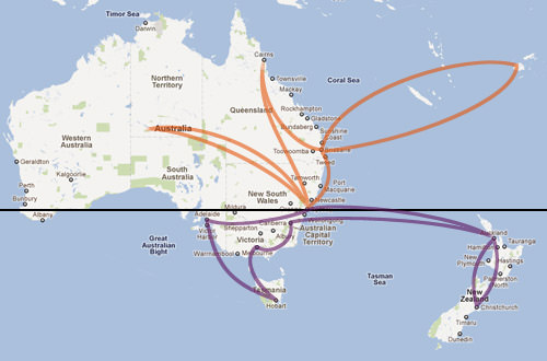Dave Aussie Travel Map