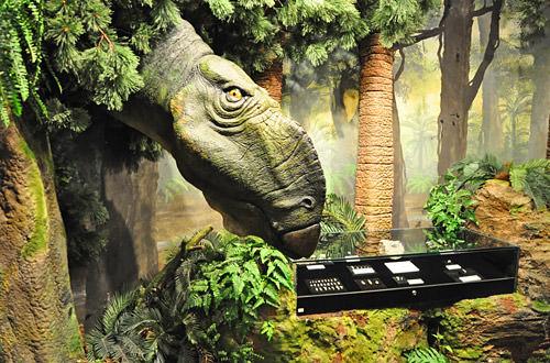 Dinosaur at the Opal Showcase