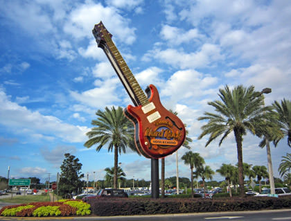 Hard Rock Hotel & Casino Guitar Sign