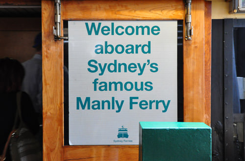 Manly Ferry Sign
