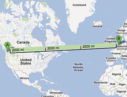 Seattle to Amsterdam Longitude Flight