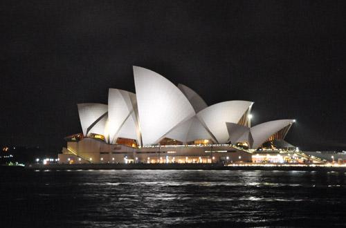Sydney Harbour Night View Opera House