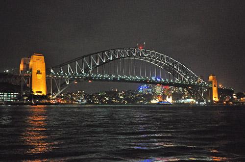 Sydney Harbour Night View Bridge