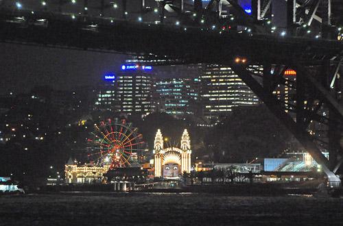 Sydney Harbour Night Luna Park