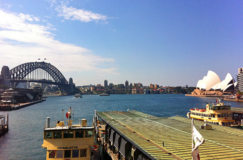 Sydney Harbour via iPhone